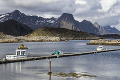 (beast.caged) Tags: travel light sky cloud mountain lake mountains nature water weather norway rock islands harbor boat norge scenery europe harbour north fjord scandinavia lofoten nord archipelago troms nordland