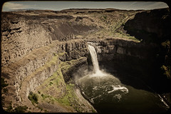 Palouse Falls, Washington (EdBob) Tags: park texture water vintage waterfall washington spring view desert scenic washingtonstate iconic textured palouse easternwashington palousefalls palousefallsstatepark washingtonstatetourism edmundlowe edmundlowephotography