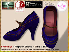 Bliensen - Shimmy - Flapper Shoes - blue velvet - Kopie (Plurabelle Laszlo of Bliensen + MaiTai) Tags: flapper shoes pumps vintage 1920s dancing ballroomshoes vintageshoes retro 1930s belleepoque artnouveau