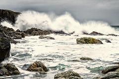 Rock and waves (Usstan) Tags: ocean winter sky seascape storm norway clouds landscape norge nikon rocks waves seasons wind nikkor westcoast locations costal seaspray sunnmre hery 1685mm d7000