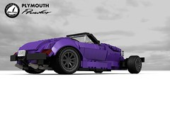 Plymouth Prowler Factory Hotrod (1997) (lego911) Tags: plymouth chrysler prowler hotrod rod strretrod 1997 1990s show auto car moc model miniland lego lego911 ldd render cad povray usa america convertible speedster v6