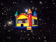 NASA's Bouncy Castle in Space (artist concept) (Mike Licht, NotionsCapital.com) Tags: technology space satire humor engineering nasa beam outerspace bouncycastle bigelowexpandableactivitymodule