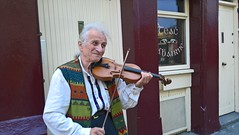 Busker (mcginley2012) Tags: busker violin candid galway cameraphone lumia650 person street musician