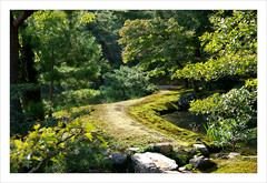 Rveries d'un promeneur solitaire (PtiteArvine) Tags: green japan garden kyoto jardin vert japon chemin templedor
