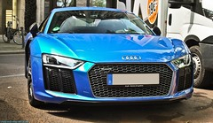 Audi R8 V10 Plus (Jack de Gier) Tags: blue race exotic plus audi dsseldorf luxury supercar v10 sportscar horsepower quattro r8 knigsallee hypercar worldcars