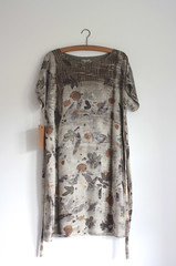 tunic dress (red2white) Tags: uk plants print scotland highlands with natural handmade dyeing eco printed dyed naturally