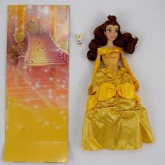 2016 Belle Classic 12'' Doll - US Disney Store Purchase - Deboxed - Lying Down - Full Front View (drj1828) Tags: disneystore doll 12inch classicprincessdollcollection 2016 purchase belle beautyandthebeast chip deboxed