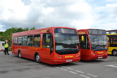 D&G Bus 163 PL05PLO & 146 YJ65EVR (Will Swain) Tags: britannia stadium stoke during potteries running day 22nd may 2016 stokeontrent trent north west bus buses transport travel uk britain vehicle vehicles county country england english red dg 163 pl05plo ratp epsom sd39 routemaster south east coaches quality line cheshire nantwich 146 yj65evr