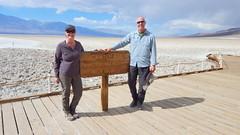 Below sea level in Death Valley NP