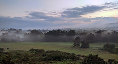 Reigate Heath in an ephemeral sea of fog (pg tips2) Tags: 2 two england cloud mist june fog landscape evening phone surrey valley wanderers mysterious change southeast fleeting walkers northdowns climate ephemeral vapour android localpeople molevalley eveningmist sssi reigateheath