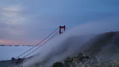 Blades in the Wind (louie imaging) Tags: sf california city morning bridge summer sunrise john photography golden timelapse gate san francisco dynamic foggy romance headlands romantic louie local hillside caress vibe spellbound spellbinding foghunters