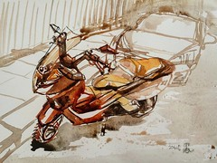 london bike (homephoenix) Tags: color bike watercolor colours aquarelle shades earthy experimentation watercolours motorbikes tone instagramapp uploaded:by=instagram rosemarybrushes