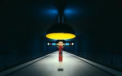 SOS man (Panda1339) Tags: man architecture germany underground munich ubahn sos lamps metrostation westfriedhof giantsaucerthing famousshotpointstheotherway