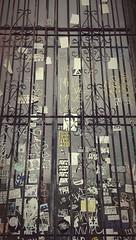 Day Trippin (cookiepuss76) Tags: window graffiti stickers iron security locked ironbars securitybars dtla