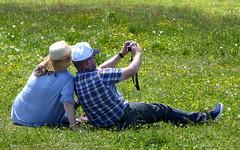 """Berg-Selfie"" 1 / ""Mountain-Selfie"" 1 (krinkel) Tags: flowers mountain alps berg grass lumix schweiz switzerland couple outdoor paar blumen panasonic alpen selfie rigi"