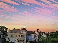 Sunset Timestack Over Somerville ((Jessica)) Tags: sunset sky boston clouds timelapse massachusetts newengland somerville iphone prospecthillpark ilapse