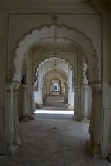 Walkway of Arches (VinayakH) Tags: india graves hyderabad tombs carvings necropolis nizam nobility paigah paigahtombs telangana maqhbarashamsalumara