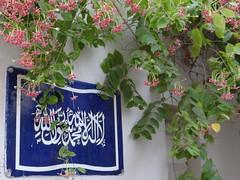No God But God Muhammad His Prophet. Karachi, Pakistan. Ramadan, 2016. (yusuf a. dadabhoy) Tags: ramadan ramazan pakistan karachi 2016 god allah prophet muhammad prophetmuhammad blue white yusuf rangoon creepers rangooncreepers