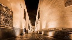 Callejon de Veyna, Zacatecas (http://sotochristian2.500px.com/) Tags: blackandwhite bw panorama night landscape mexico photo zacatecas drama callejon autopanopro callejondeveyna wclx100 fujifilmx100t