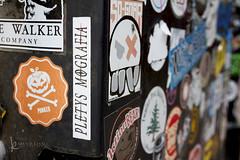 116in2016 #16 logo / emblem (Karen Juliano) Tags: pumpkin berkeley propaganda stickers denver walker vandalism logos crossbones punked actionbear
