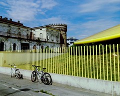 Yellow Fence Colors Taking Photos Architecture Architettura Abandoned Abandoned Places Abandoned Buildings Bikes Vanishing Point Punto Di Fuga Geometric Shapes Cityscapes (claudio_fornaciari) Tags: abandoned colors yellow architecture fence vanishingpoint cityscapes bikes architettura takingphotos abandonedbuildings geometricshapes abandonedplaces puntodifuga