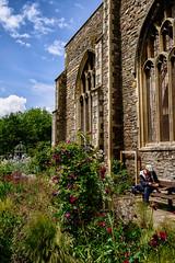 _DSF1608-Edit (richwself) Tags: uk flowers red england urban church architecture bristol unitedkingdom streetphotography castlepark stpeterschurch fujinonxf1855mmf284rlmois fujifilmxpro2