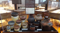 Native American pottery collection in the Tuzigoot