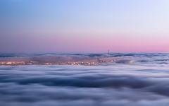 Cloud City [Explore 06/23/16] (Joe Parks) Tags: sanfrancisco berkeley berkeleyhills fog clouds sunset dusk sutrotower canon6d joeparks