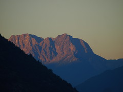 My thoughts so far on this evening (Michele Grazia) Tags: sky mountains dolomites afterglow venosta