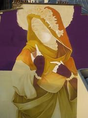 Inti : cration en cours (23 juin 2016) (Archi & Philou) Tags: streetart workinprogress wip madone paris13 paintedwall murpeint travailencours itinerrance