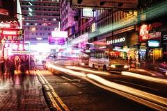 Bustle at 11pm (Elise Lau) Tags: life city longexposure light people night hongkong long exposure citylife trails hong kong lighttrails nightlife citystreets cityatnight lightstreaks