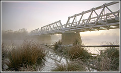 Range Road Bridge (tim_kavanagh) Tags: winter fog rural frost nsw wollondillyriver allantruss