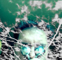 Professor Radium Charges The Atmosphere (MPnormaleye) Tags: strange weird mashup radiation negative fantasy montage utata scifi lightning bizarre selfie filtered fused serigraph