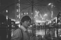 BROKEN (ajpscs) Tags: street nightphotography people bw blancoynegro broken rain japan japanese tokyo blackwhite nikon nightshot streetphotography monochromatic d750  nippon  blkwht grayscale ame salaryman  shinbashi    monokuro ajpscs whenitrains  anotherrain