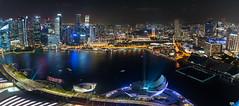Singapore Marina Lightshow (Corey Hamilton) Tags: city night marina singapore lightshow skygarden marinabaysands singaporemarina