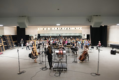 9 July 16 Clore Studio recording (Nikon Girl 88) Tags: musician music house choir opera royal instrument gong tenor