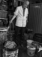 D7K_2057_ep_gs (Eric.Parker) Tags: bw fish japan tokyo mask market tsukiji tsukijifishmarket 2016