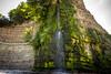 "St. Audries Bay. (Ian Emerson ""I'm Back"") Tags: sunlight beach canon coast waterfall rocks natural hill somerset coastline cascade hoya ndx400"