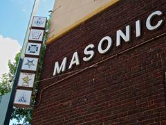 Masonic Temple, Mankato, MN (Robby Virus) Tags: minnesota sign temple lodge masonic masons signage fraternal freemasons mankato organiation