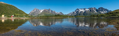 Lofoten Panorama (Maria-H) Tags: sea panorama mountains norway reflections no panasonic lofotenislands 1235 nordland gh4 vestpollen dmcgh4