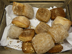 Small crisp rolls (seikinsou) Tags: summer food brown white breakfast bread restaurant hotel midsummer sweden diningroom meal roll umea scandic