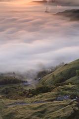 Hope Valley Sunrise (Kathy ~ FineArt-Landscapes) Tags: mist cloud cloudinversion peakdistrict hills light sunrise britain