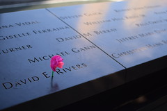 Homemade (Amelia Cacchione) Tags: 911 memorial new york city september 11 pool fountain people world trade center freedom tower nyc tourist