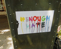 #EnoughHate (TheMachineStops) Tags: nyc newyorkcity sign mailbox peace manhattan text westvillage tolerance meme hate dripping