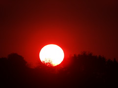 Crimson of the morning (Mrs Andr) Tags: morning sunset red sun mountains crimson sunrise sunsets luxembourg