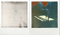 inside&outside (natasha simba) Tags: sky sun film window plane polaroid day russia moscow victory parade shade instant colorshade silvershade theimpossibleproject