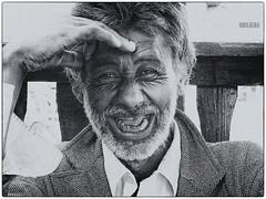 Ha! Ha! Ha!... (Robin.Benea) Tags: portrait bw smile interesting funny fuji expression awesome explore fujifilm x20 cs6 silverefexpro groseni ringexcellence flickrstruereflection1 rememberthatmomentlevel1