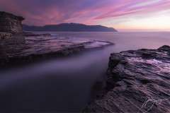 The Opening (hillsee) Tags: longexposure seascape sunrise tasmania eaglehawkneck piratesbay tasmanpeninsular tidalshelves