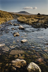 View from Blea Moor towards Ingleborough (trymilkingme) Tags: mountain nationalpark moor yorkshiredales blea ingleborough ribblehead