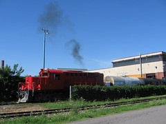 Doing what an MLW does (Michael Berry Railfan) Tags: quebec montreal lachine cad mlw rs18 montreallocomotiveworks rs18u canadianallieddiesel cad1825